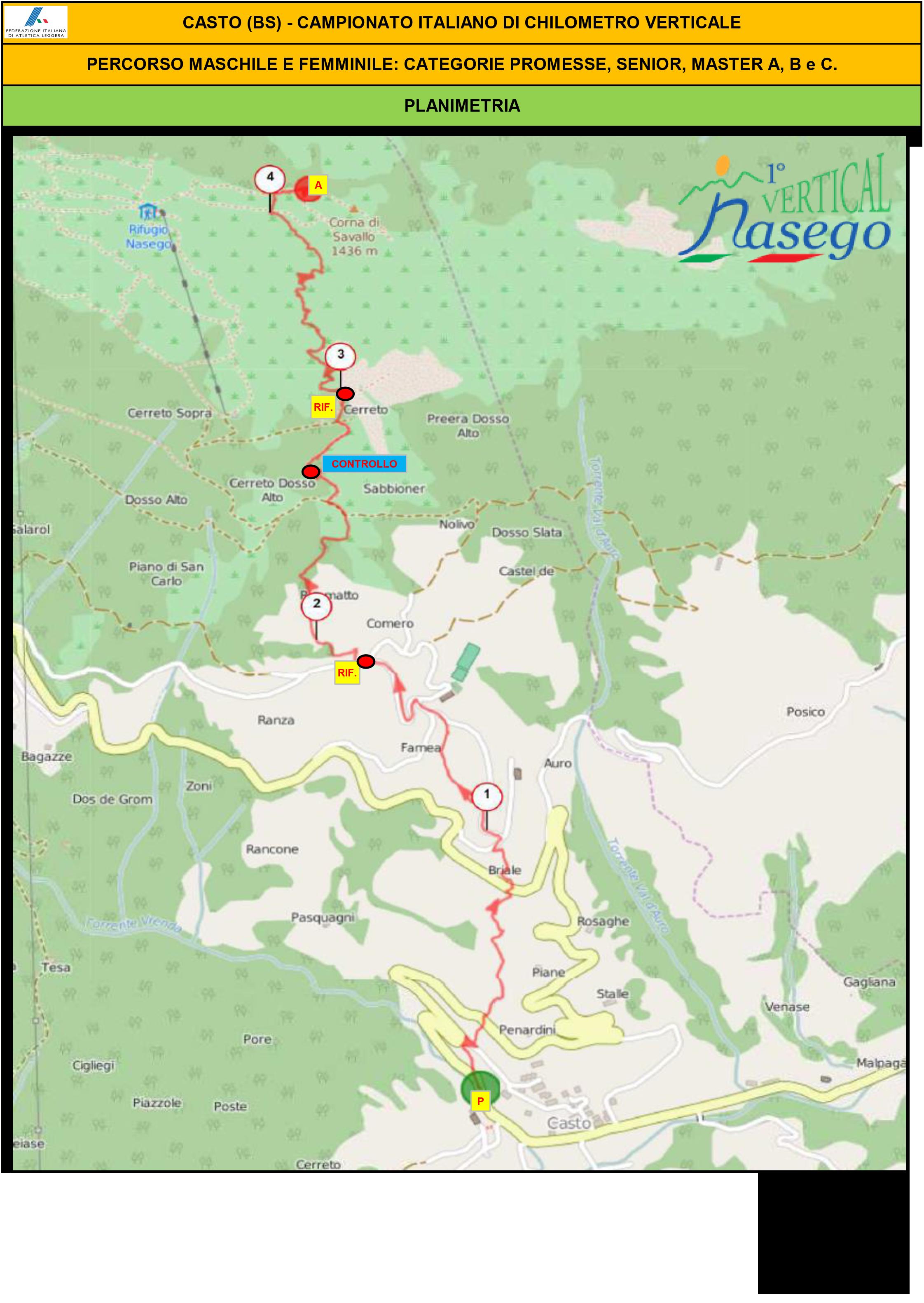 RAPPORTO OMOLOGAZIONE VERTICAL NASEGO CASTO 2016-7
